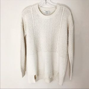 Madewell Light Beige Sweater Size M